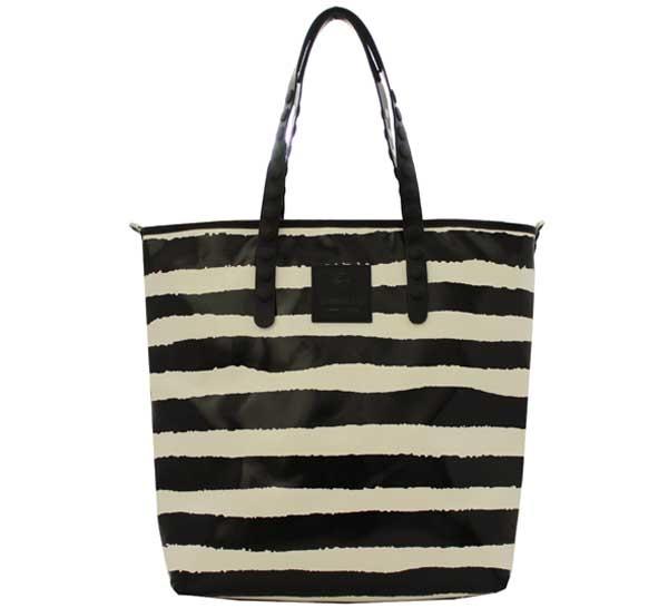 Shopping bag gabs lucrezia test p0068 righe b/n - dettaglio 1