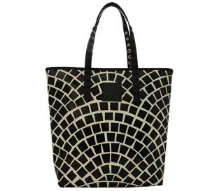 Shopping bag gabs lucrezia test p0071 mosaico b/n - dettaglio 1