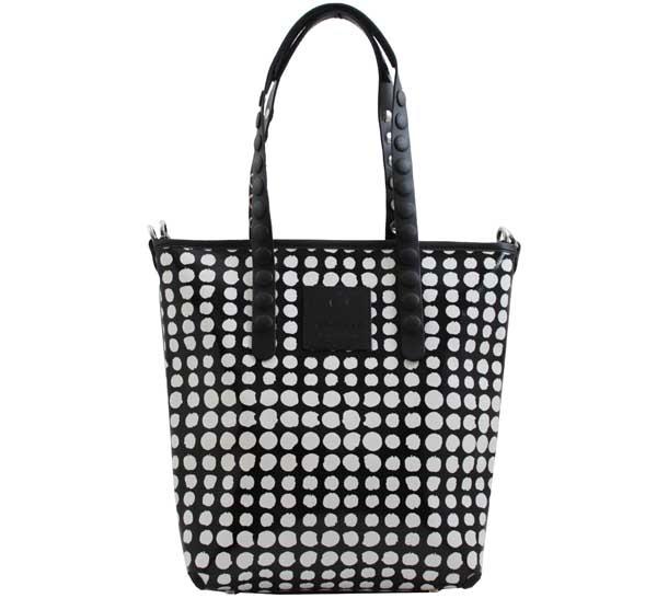 Shopping bag gabs lucrezia test p0072 pois bianco-nero - dettaglio 1