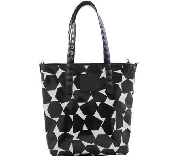 Shopping bag gabs lucrezia test p0074 geometrico b-n - dettaglio 1