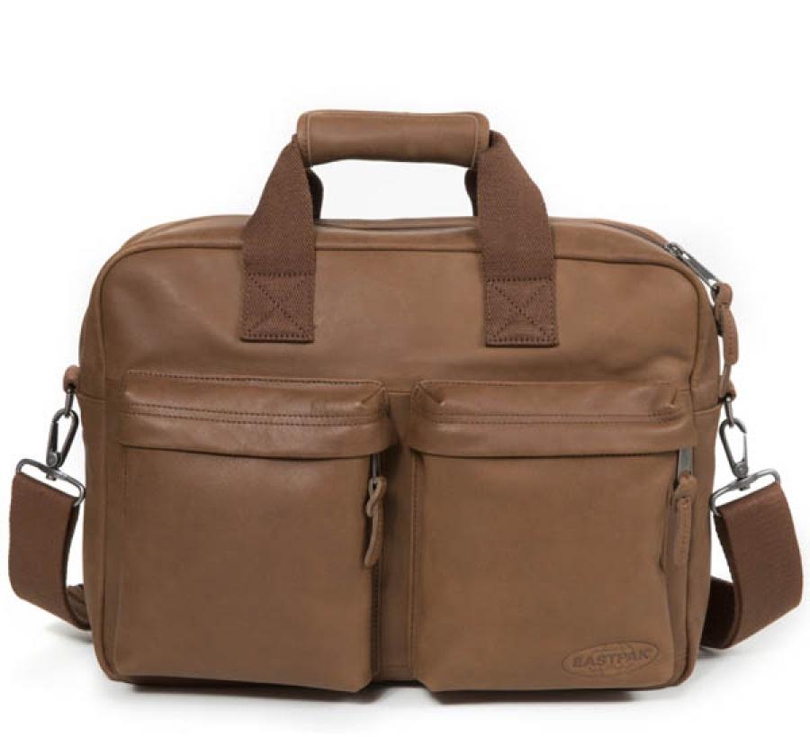 Borsa a tracolla eastpak tomec brownie leather ek023 - dettaglio 1