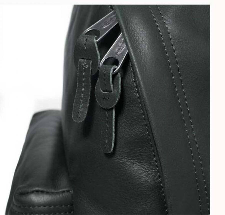 Zaino eastpak padded pak'r green leather ek620 - dettaglio 7