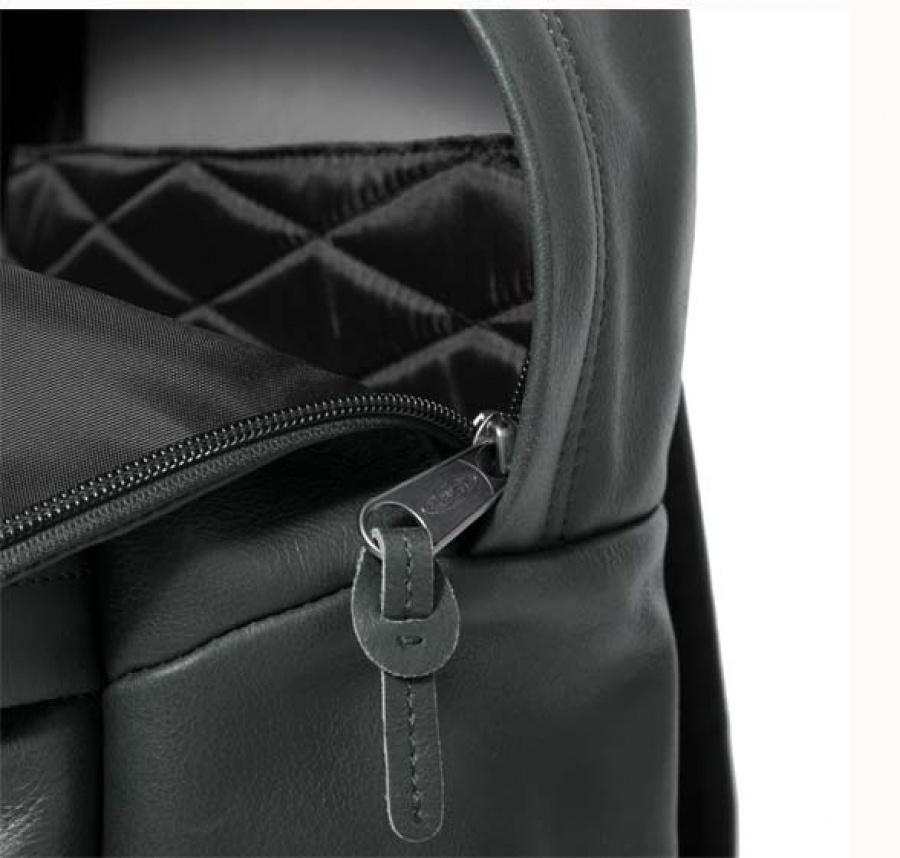 Zaino eastpak padded pak'r green leather ek620 - dettaglio 8