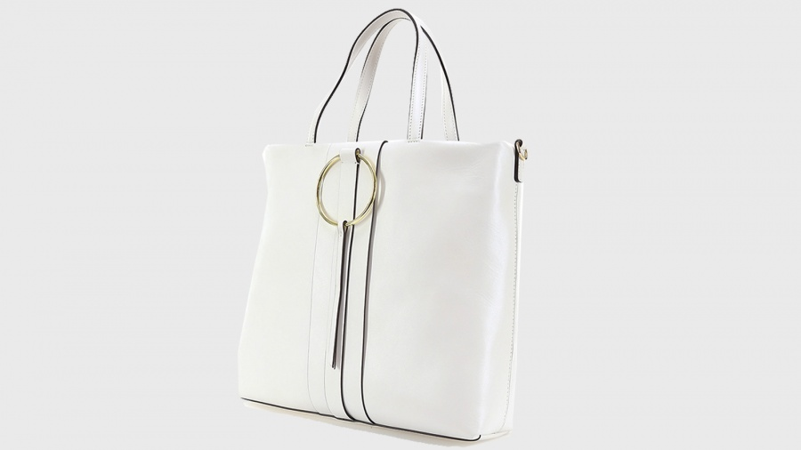 Shopping bag frida gianni chiarini 6323 sfy gesso - dettaglio 2