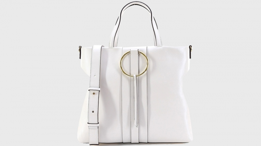 Shopping bag frida gianni chiarini 6323 sfy gesso - dettaglio 4