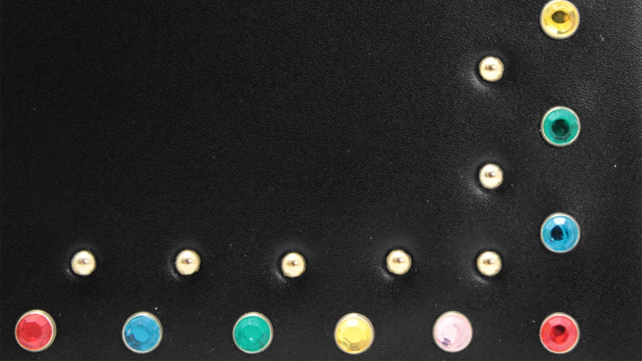 Clutch helenita strass gianni chiarini 6342 lsr strass nero-multy - dettaglio 4