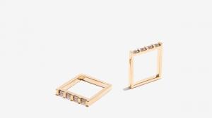 Nalì anello doppio quadrato 16162 oro - dettaglio 1