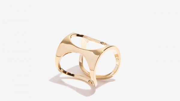 Nalì anello con cerchi 16171 oro - dettaglio 1