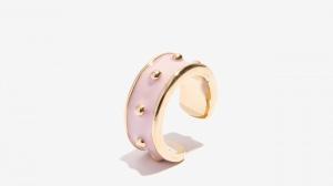 Nalì anello smaltato con borchie 16212 cipria - dettaglio 1