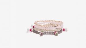 Nalì bracciale in set elastico con tassel e beads 16398 grigio - dettaglio 1
