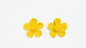 Nalì orecchini a fiore di cristalli 16308 giallo - dettaglio 1