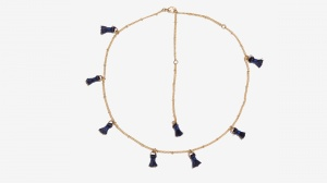 Nalì collana girocollo con tassel 16360 blu - dettaglio 1