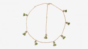 Nalì collana girocollo con tassel 16361 verde - dettaglio 1