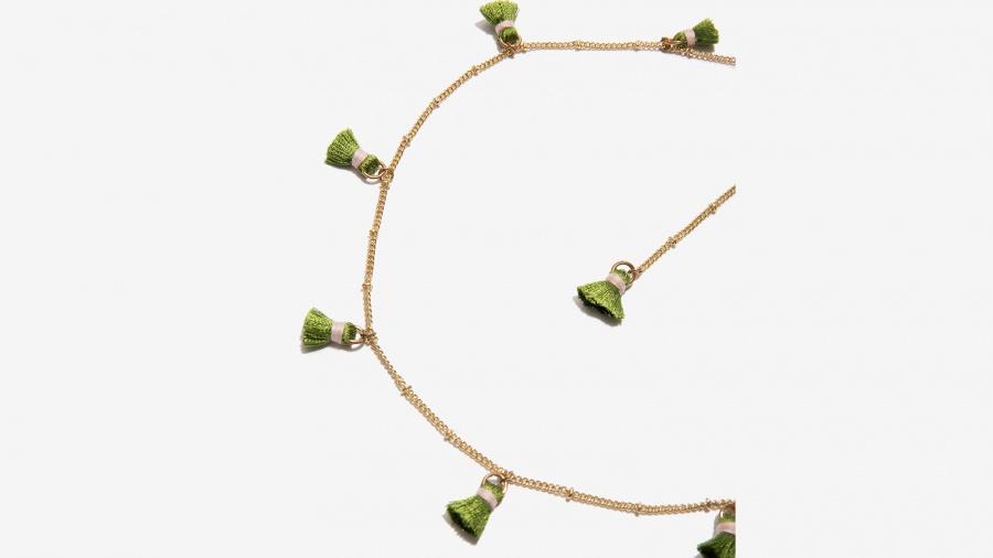 Nalì collana girocollo con tassel 16361 verde - dettaglio 2