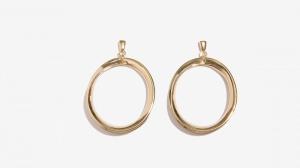 Nalì orecchini con cerchio oversize 16195 oro - dettaglio 1