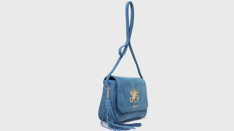 Twinset borsa a tracolla con patta os8tea blue stone pelle - dettaglio 3