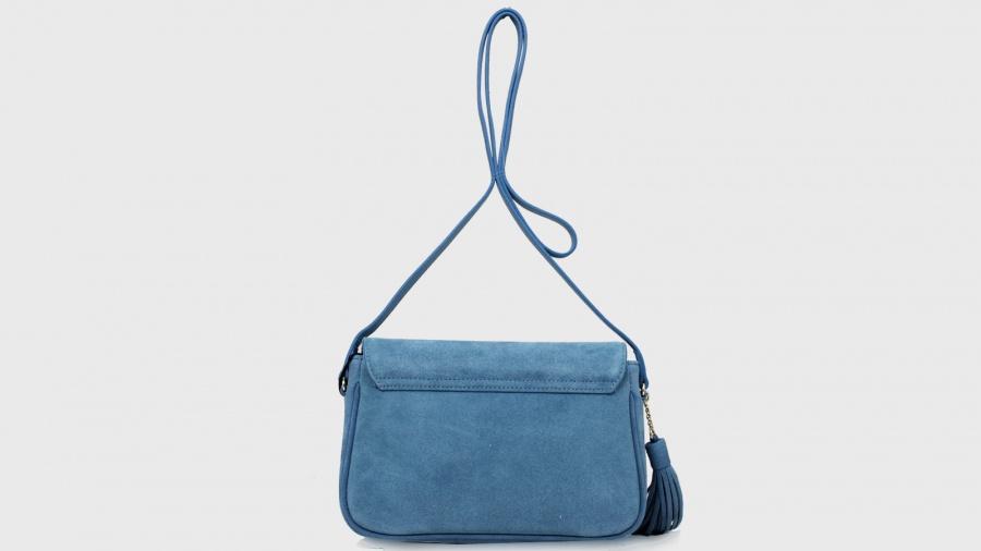 Twinset borsa a tracolla con patta os8tea blue stone pelle - dettaglio 4