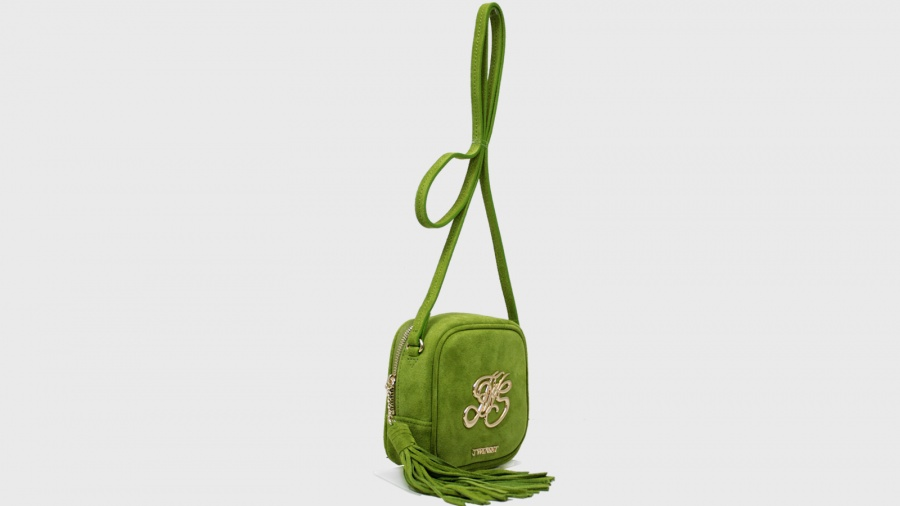 Twinset borsa a tracolla mini con logo os8teb kiwi pelle - dettaglio 3