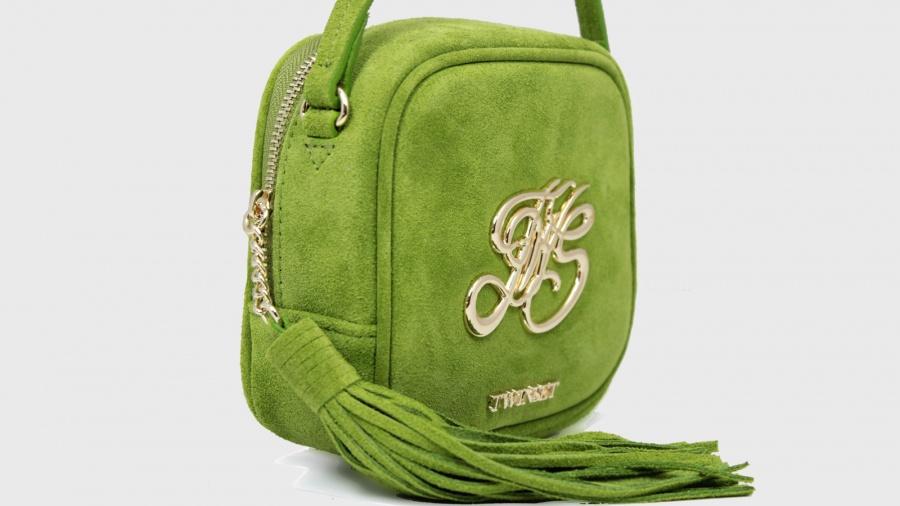 Twinset borsa a tracolla mini con logo os8teb kiwi pelle - dettaglio 4