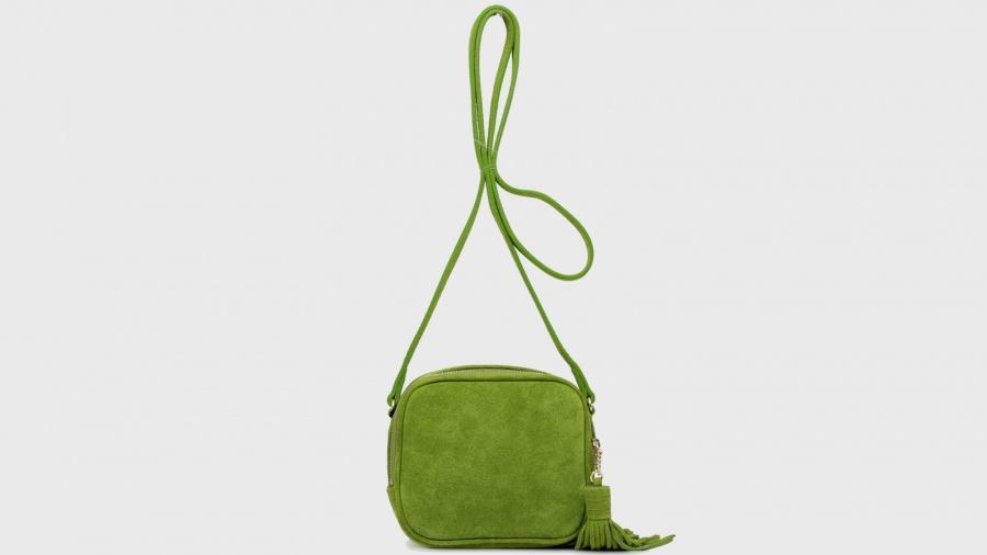 Twinset borsa a tracolla mini con logo os8teb kiwi pelle - dettaglio 5