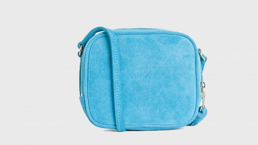 Twinset borsa a tracolla mini con logo os8teb blue stone pelle - dettaglio 2