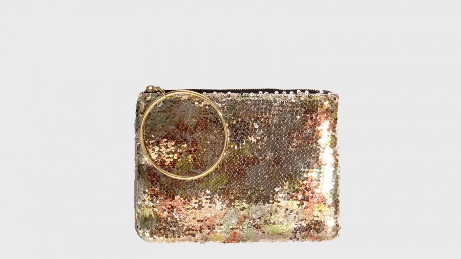 bene fuori x prezzo limitato a buon mercato Nalì Pochette con anello in metallo Rosa Fantasia | Zoee.it