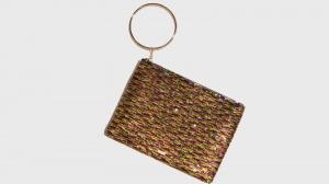 Pochette con anello in metallo nalì 16546 multicolor fantasia - dettaglio 1