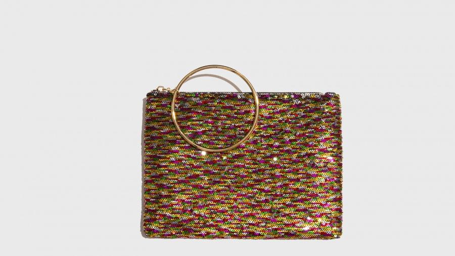 ma non volgare economico in vendita up-to-date styling Nalì Pochette con anello in metallo Multicolor Fantasia | Zoee.it