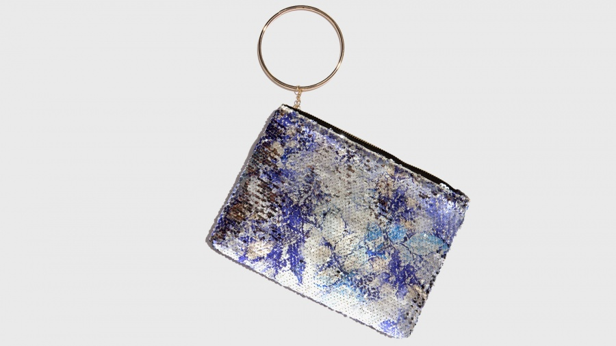 vendita a buon mercato nel Regno Unito cerca autentico uomo Nalì Pochette con anello in metallo Blu Fantasia | Zoee.it