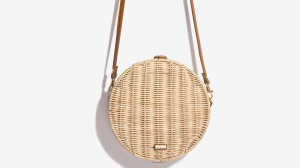 Nalì borsa a tracolla tonda in paglia 16602 beige - dettaglio 1