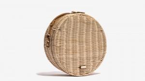 Nalì borsa a tracolla tonda in paglia 16602 beige - dettaglio 2