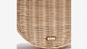Nalì borsa a tracolla tonda in paglia 16602 beige - dettaglio 3