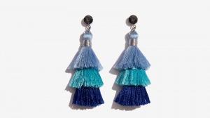 Nalì orecchini tassel degrade' 16570 blu - dettaglio 1