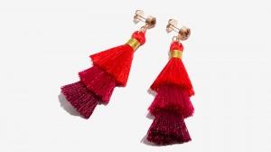 Nalì orecchini tassel degrade' 16571 rosso - dettaglio 1