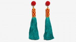 Nalì orecchini tassel con corallini 16708 turchese - dettaglio 1