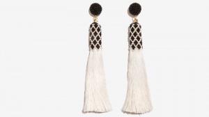 Nalì orecchini tassel con corallini 16710 bianco - dettaglio 1
