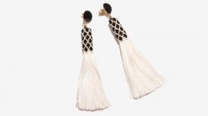 Nalì orecchini tassel con corallini 16710 bianco - dettaglio 2