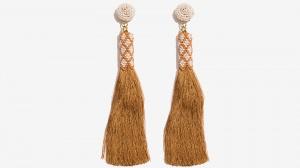 Nalì orecchini tassel con corallini 16711 oro - dettaglio 1