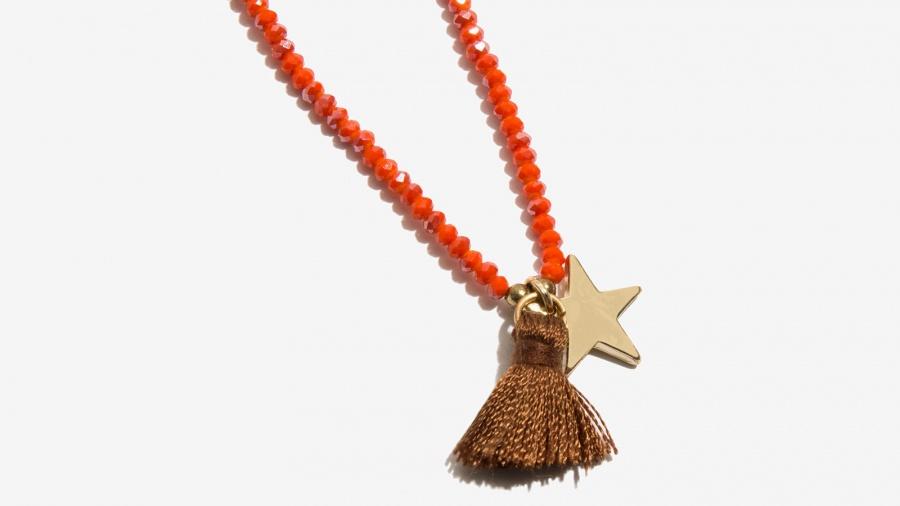 Nalì collana bracciale stella e tassel 16642 corallo - dettaglio 2