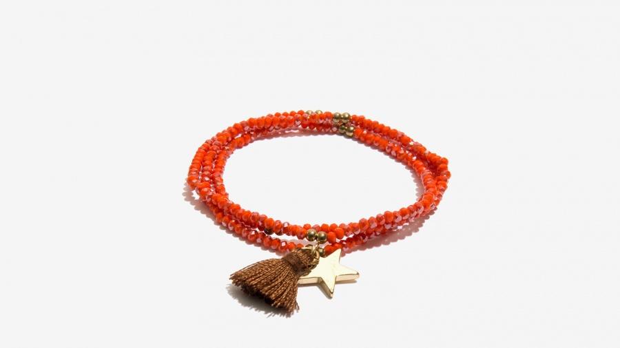 Nalì collana bracciale stella e tassel 16642 corallo - dettaglio 3