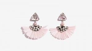 Nalì orecchini frangia 16577 rosa - dettaglio 1