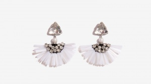 Nalì orecchini frangia 16578 bianco - dettaglio 1