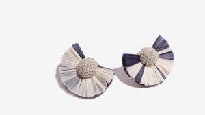 Nalì orecchini ventaglio rafia 16686 blu - dettaglio 1