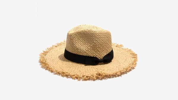 Nalì cappello sfrangiato paglia 16556 beige - dettaglio 1