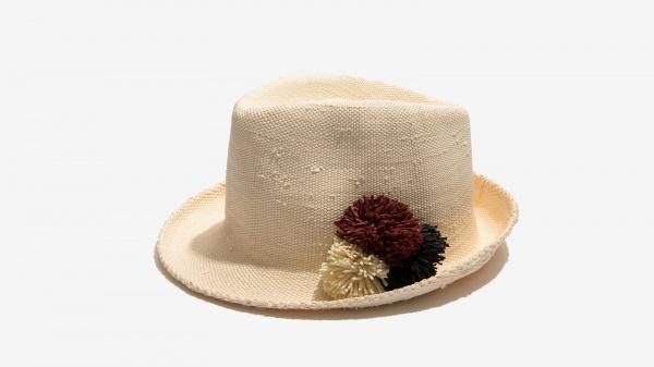 Nalì cappello pon pon 16558 bianco - dettaglio 3