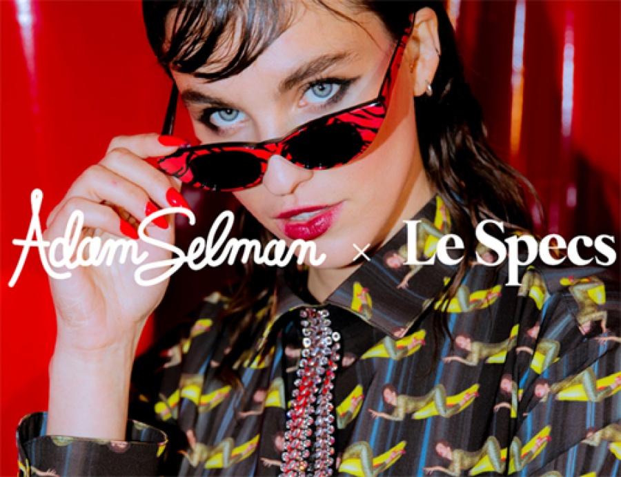 Le specs occhiali adam selman the breaker black - dettaglio 4