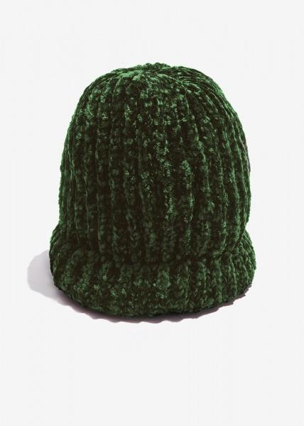 Nalì berretto in ciniglia mkca0053 verde - dettaglio 1