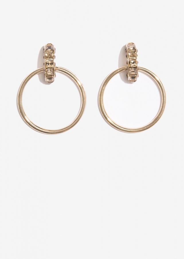 Nalì orecchini cerchio con pietre emor0271 topazio - dettaglio 1