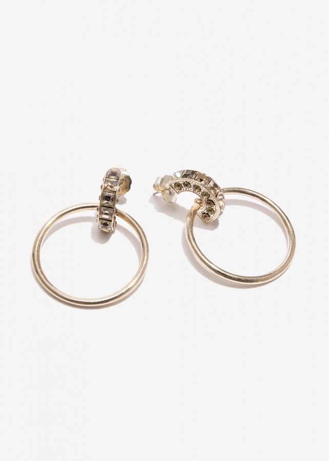 Nalì orecchini cerchio con pietre emor0271 topazio - dettaglio 2