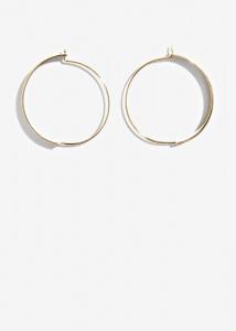 Nalì orecchini cerchi a mezzaluna amor0506 oro - dettaglio 1